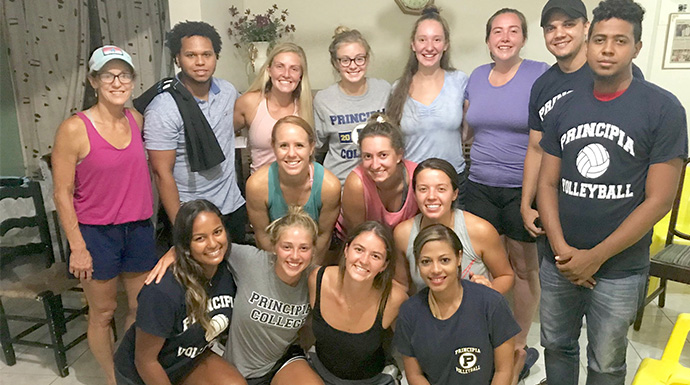 From Rivals To Partners: Principia and Greenville Volleyball Unite