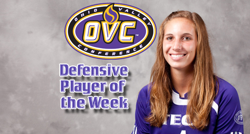 Sophomore Leigh Heffner named an OVC Player of the Week for women's soccer