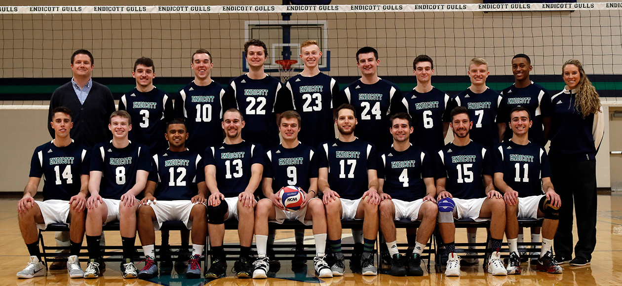 2016-17 men's volleyball team photo.