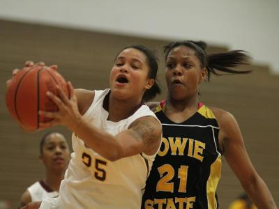 Senior forward Dohnay Banice had 24 points and nine rebounds the last time UDC played Mercy.
