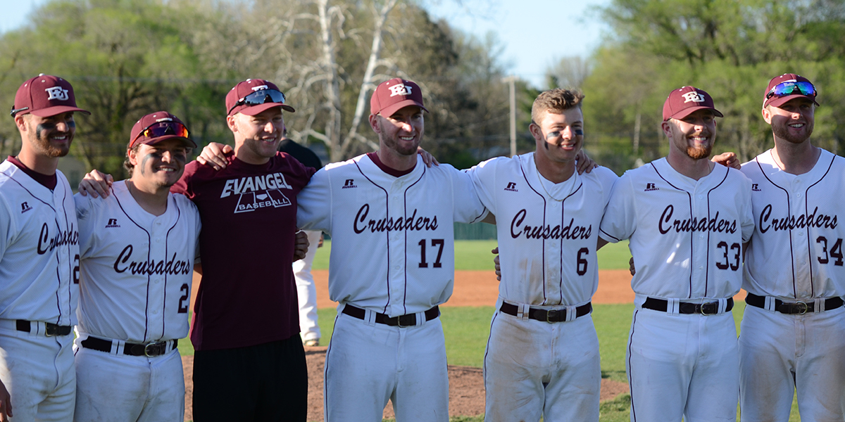 Evangel Baseball Sweeps No. 22 Central Methodist to Clinch Series Victory on Senior Day