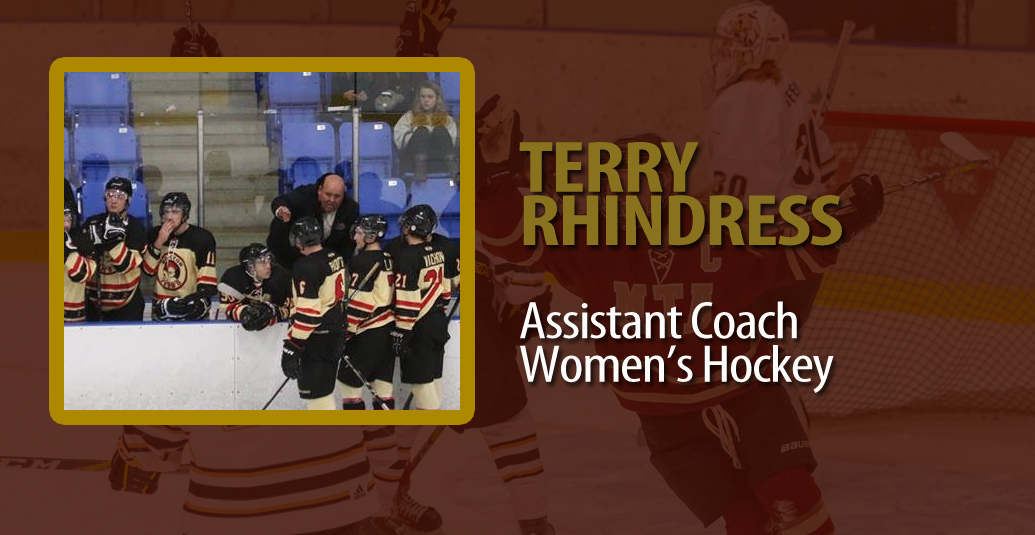 Terry Rhindress added as Assistant Coach with Mounties Women's Hockey