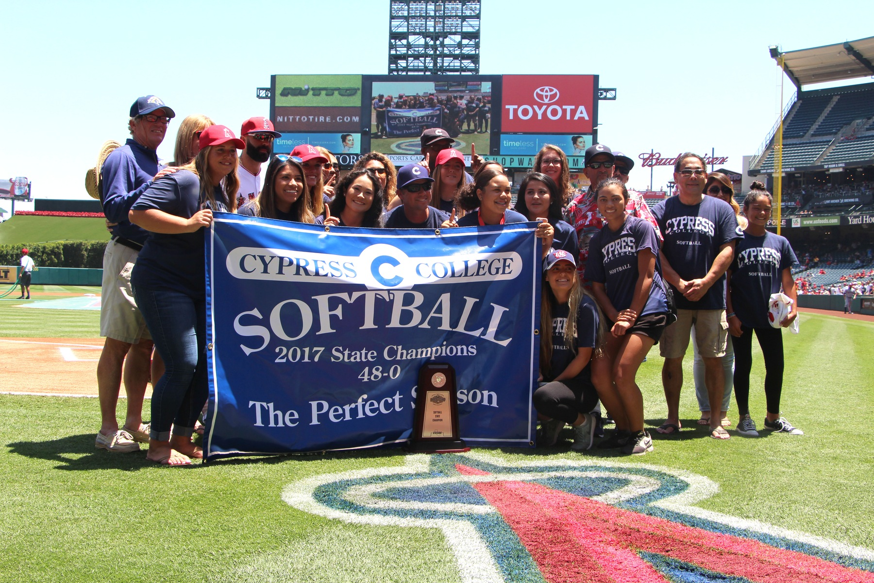 State Champion Chargers Honored at Angel Stadium