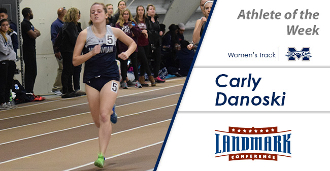 Carly Danoski '20 selected as Landmark Conference Women's Track Athlete of the Week.