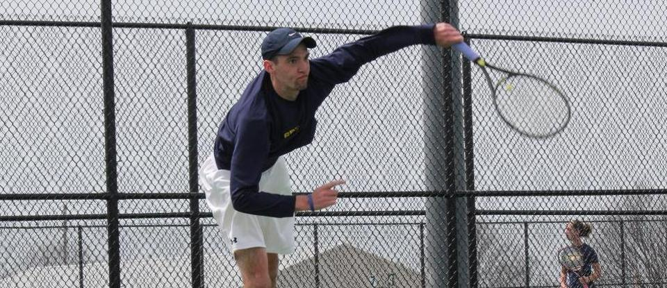 Men's Tennis Begins Busy Final Week with Win over Manchester