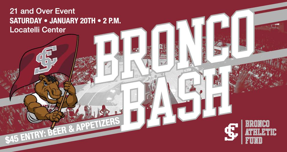 Inaugural Bronco Bash Scheduled for January 20