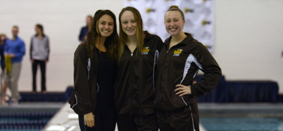 Allie Thorson, Bella Ratino and Olivia Jacob took top three places in 500-free