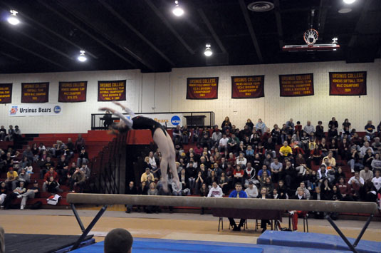 Gymnastics slips by West Chester
