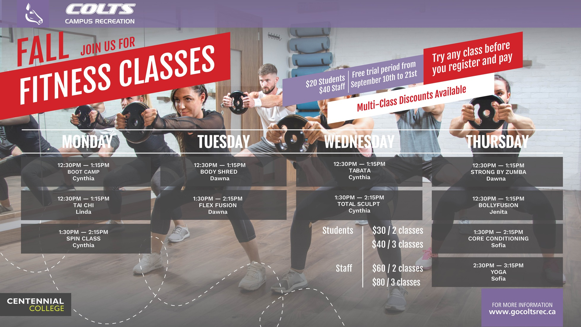 Free Trial Fitness Classes