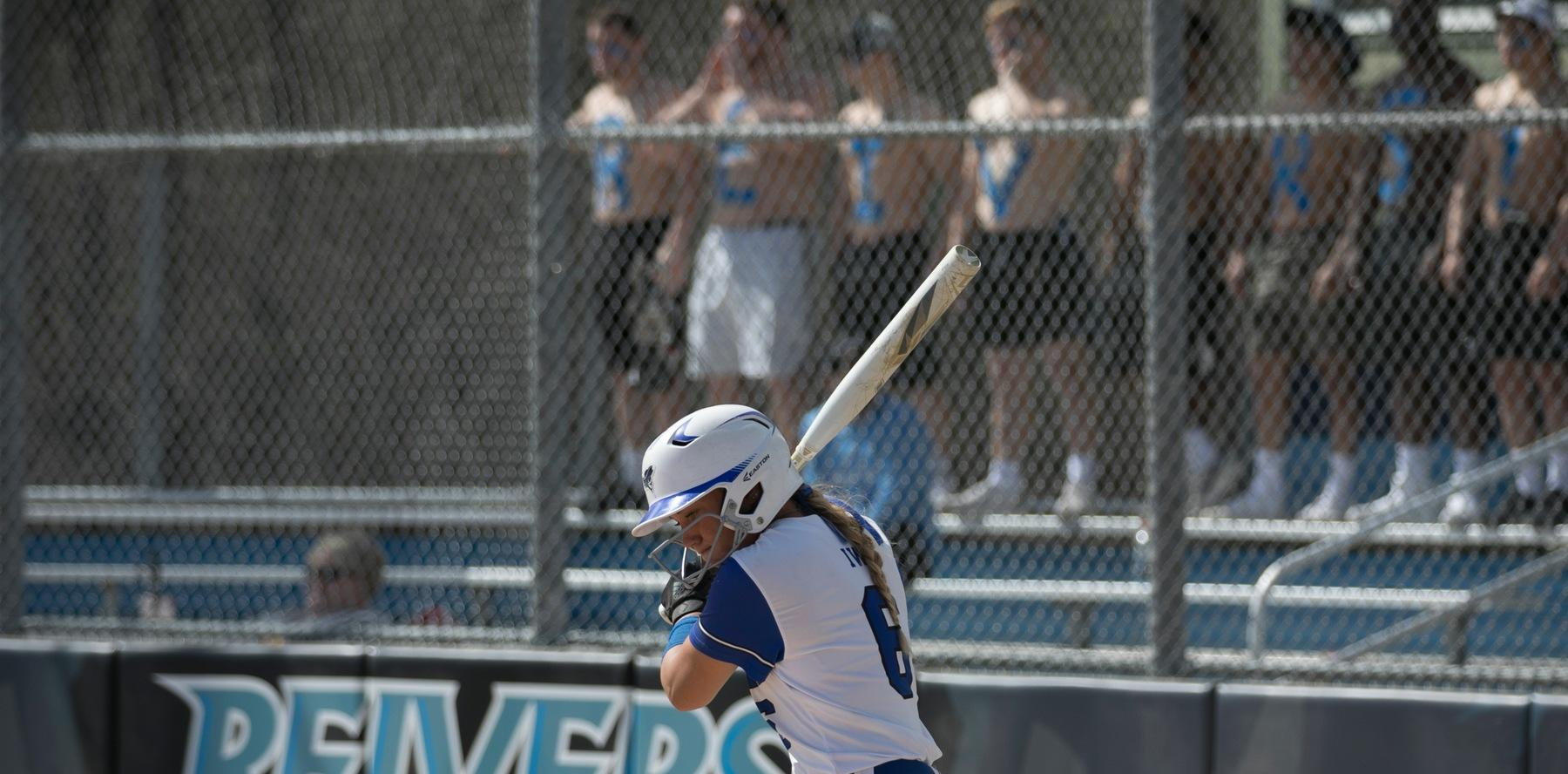 Softball splits with #12 Johnson County