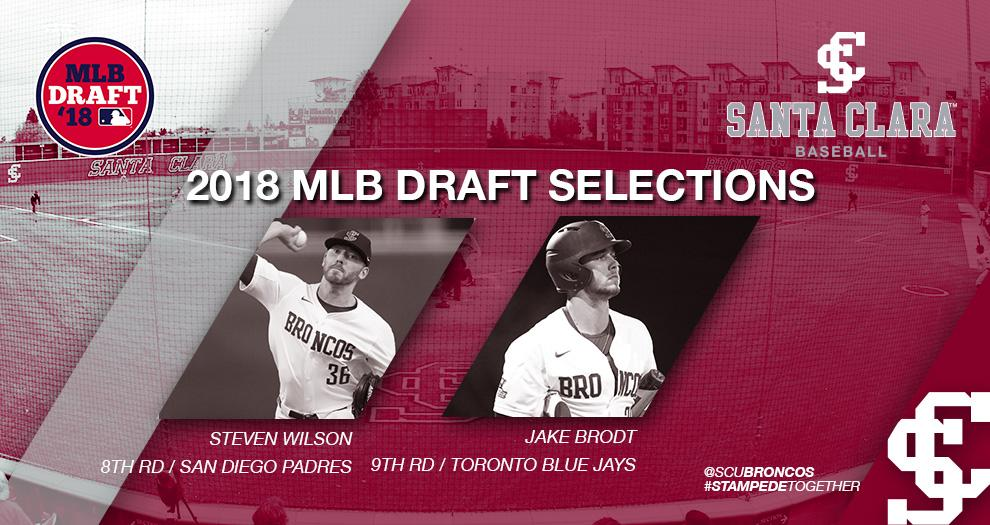 Wilson and Brodt Selected In The 2018 MLB Draft