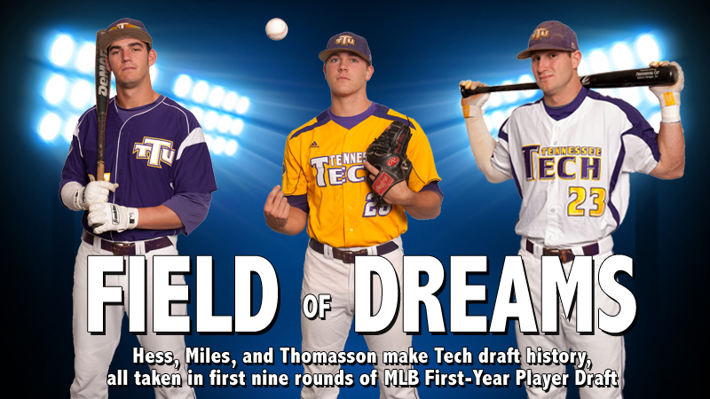 Three Golden Eagles taken in first nine rounds of MLB First-Year Player Draft