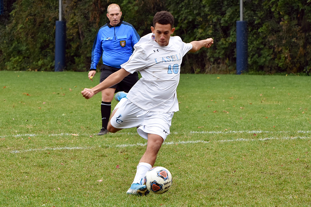 MSOC: Lasell edges Emmanuel in overtime; DaSilva the hero for Lasers