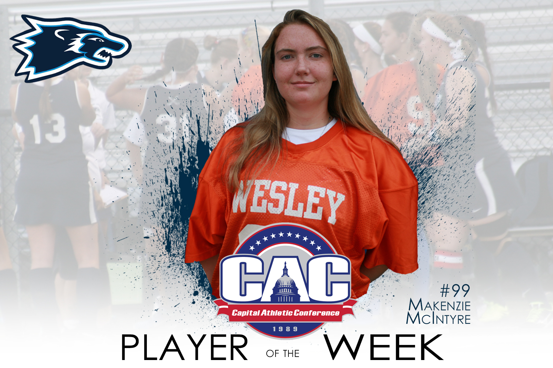 McIntyre Earns CAC Defensive Player of the Week