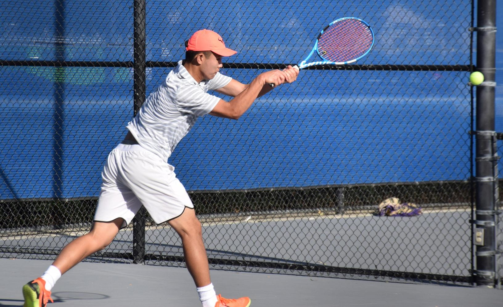 Men's tennis team ends first round of OEC play with loss at home