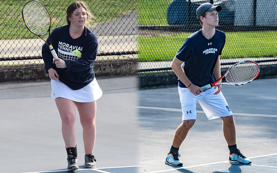 Kristen Cassidy and Mason Hudnall compete on Hoffman Courts during the 2018-19 season.