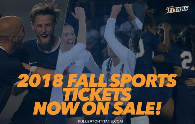 Fall Sport Single Game Tickets on Sale!