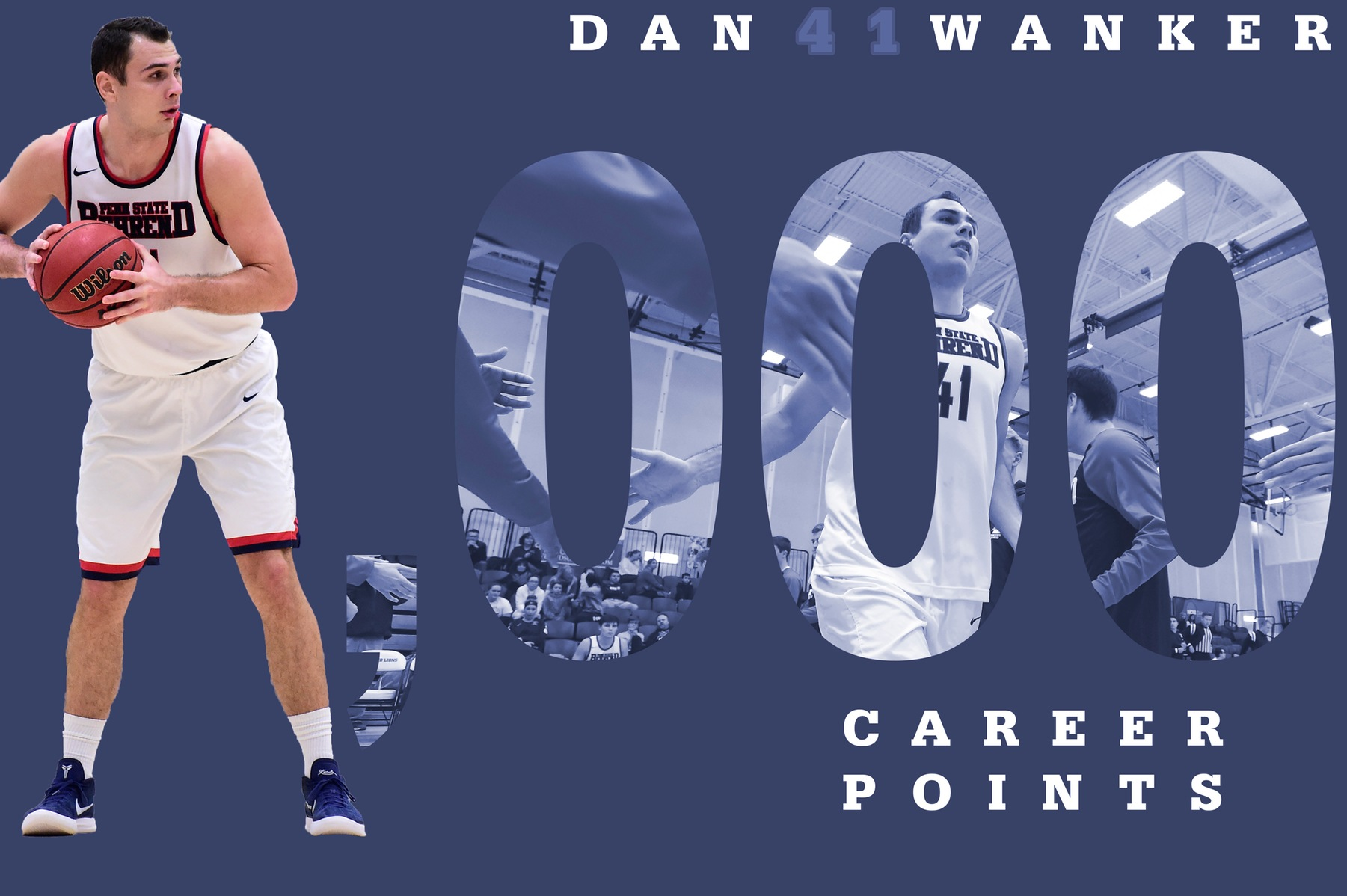 Wanker Records 1,000th Career Point; Lions Down Franciscan