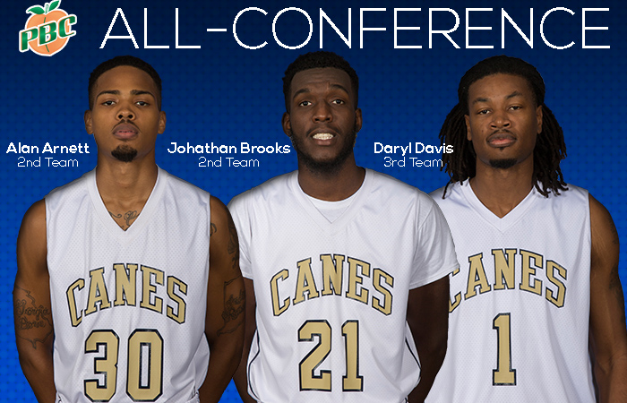 Arnett, Brooks & Davis Receive All-Conference Honors