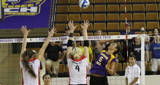 Golden Eagle volleyball team downed by TSU during midweek match