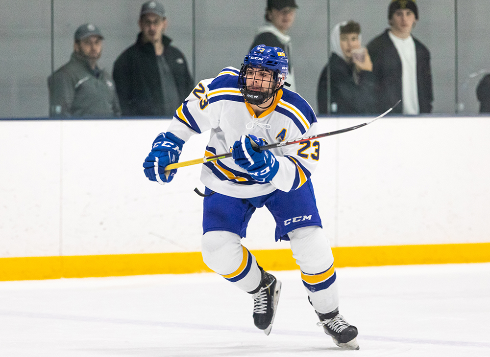 Men's Ice Hockey Snaps Skid with Victory over Stonehill