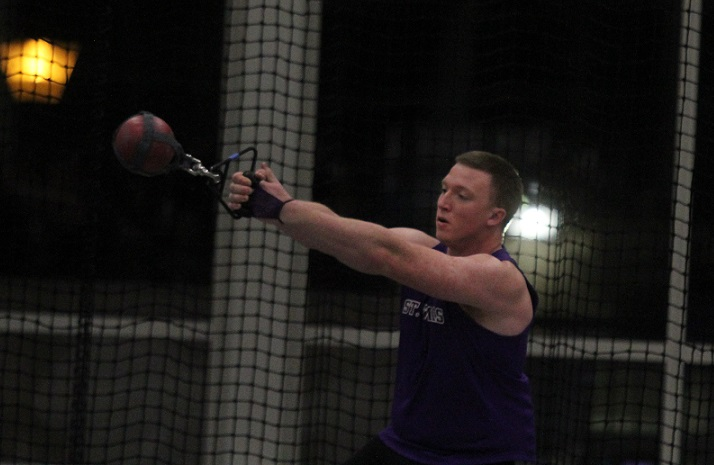 Holst, throwers shine again for Men's Track and Field