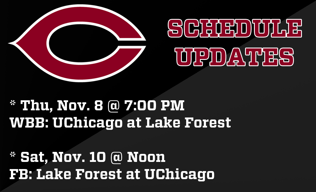 Women's Basketball (Nov. 8) and Football (Nov. 10) Schedule Updates