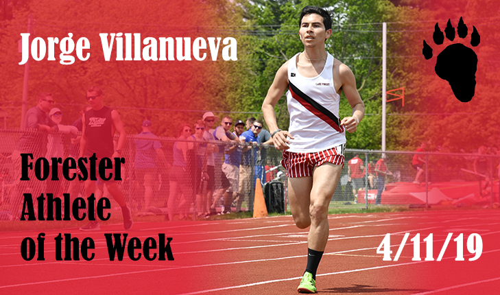 Jorge Villanueva Voted Forester Athlete of the Week