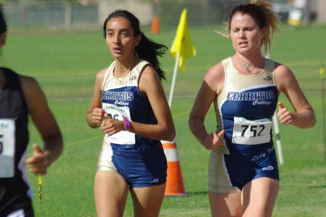 (L-R) Adriana Velasco and Rebecca Harris helped Cerritos placed fourth