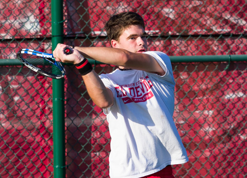 Jon Brittin and the Red Devils posted a 9-0 win at McDaniel College on Tuesday afternoon<BR>