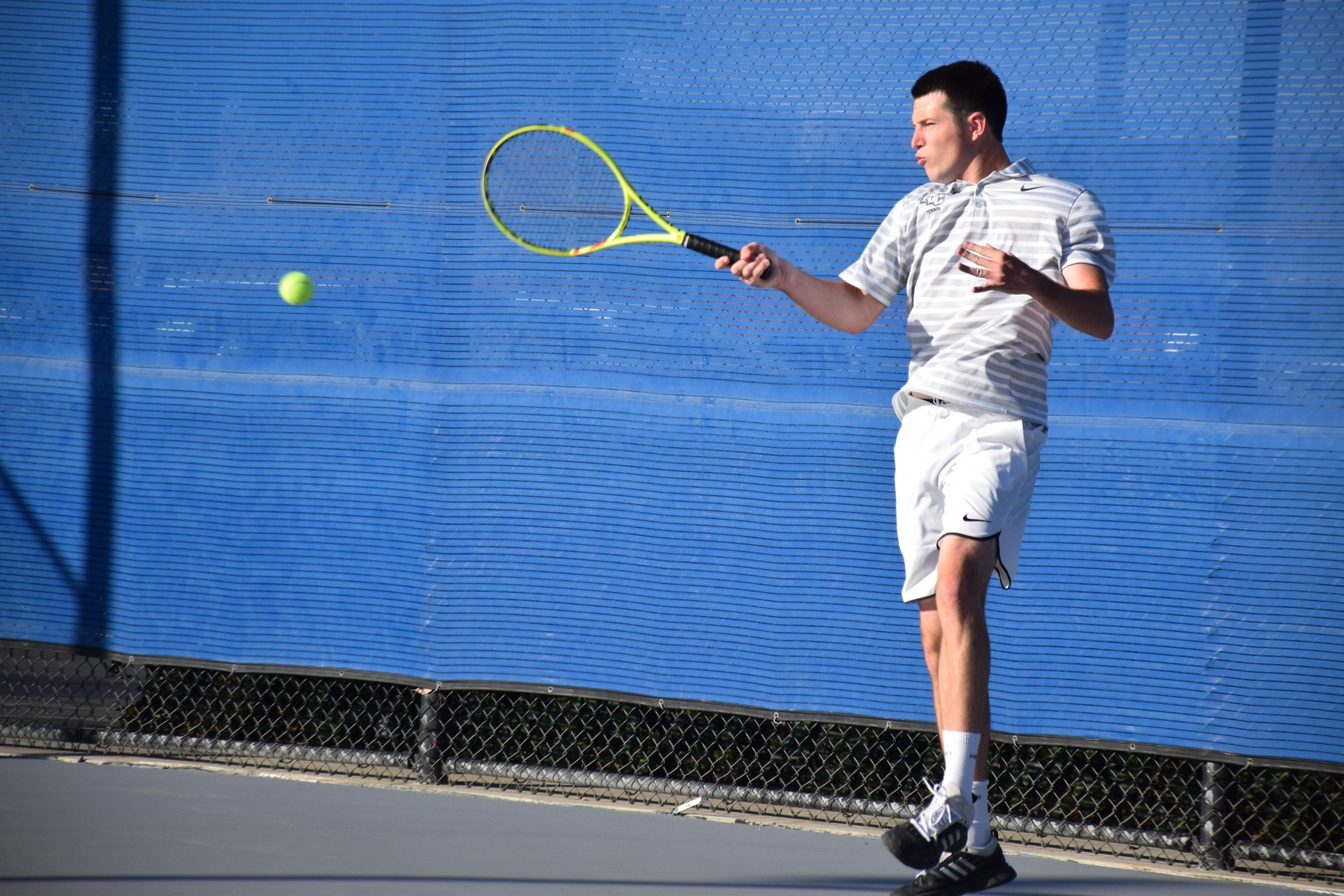 Men's tennis team gets beat by Cypress in OEC home match