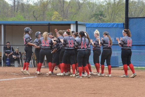 SOFTBALL WINS THREE GAMES IN ONE DAY TO ADVANCE TO CACC CHAMPIONSHIP