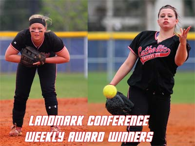 Cardinals sweep Landmark Conference weekly awards