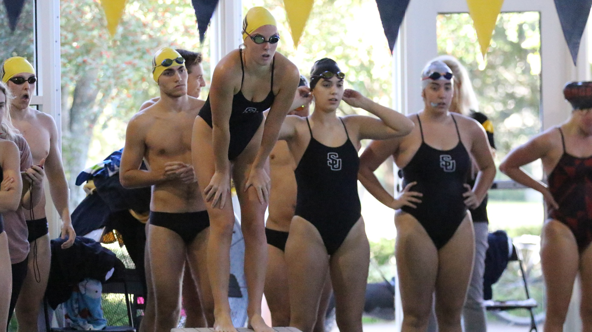 Women's Swimming Sinks Centenary College