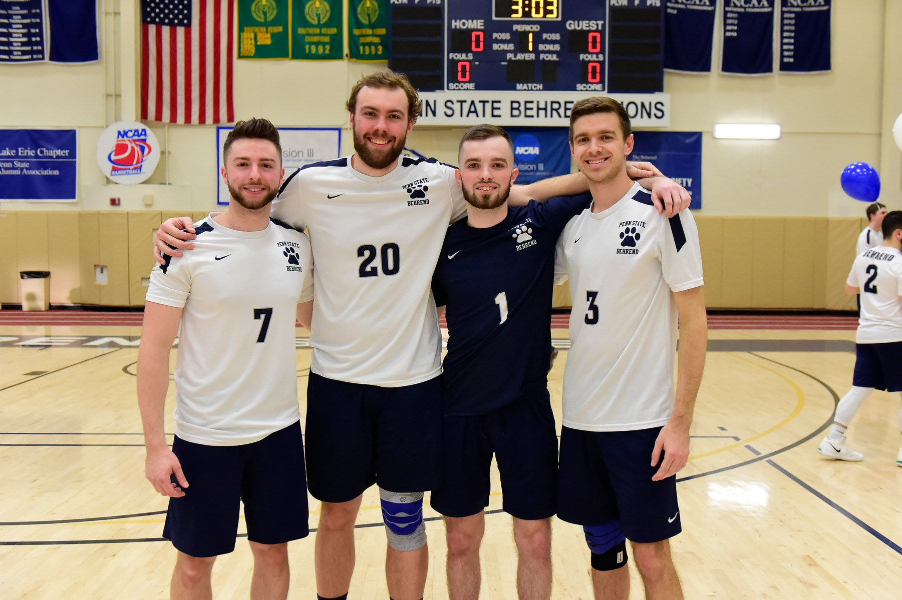Behrend Men's Volleyball Defeats Medaille on Senior Night