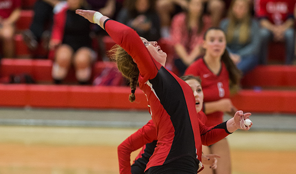 Volleyball Storms Past Nor'Easters, 3-1
