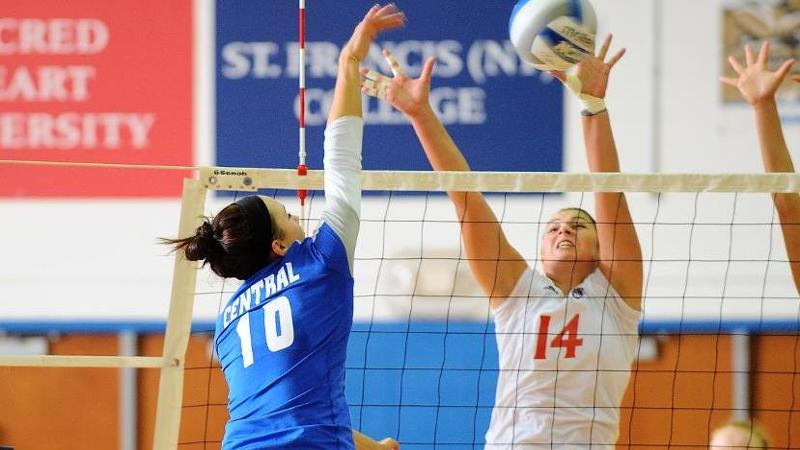Volleyball Sweeps SFBK to Reach 20 Wins