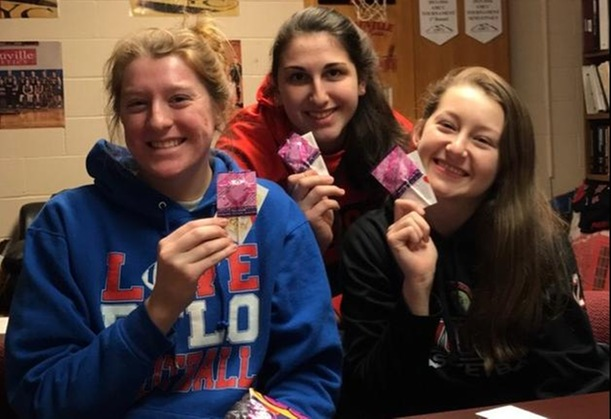 Spartan Women Make Valentines for Women and Children's Hospital