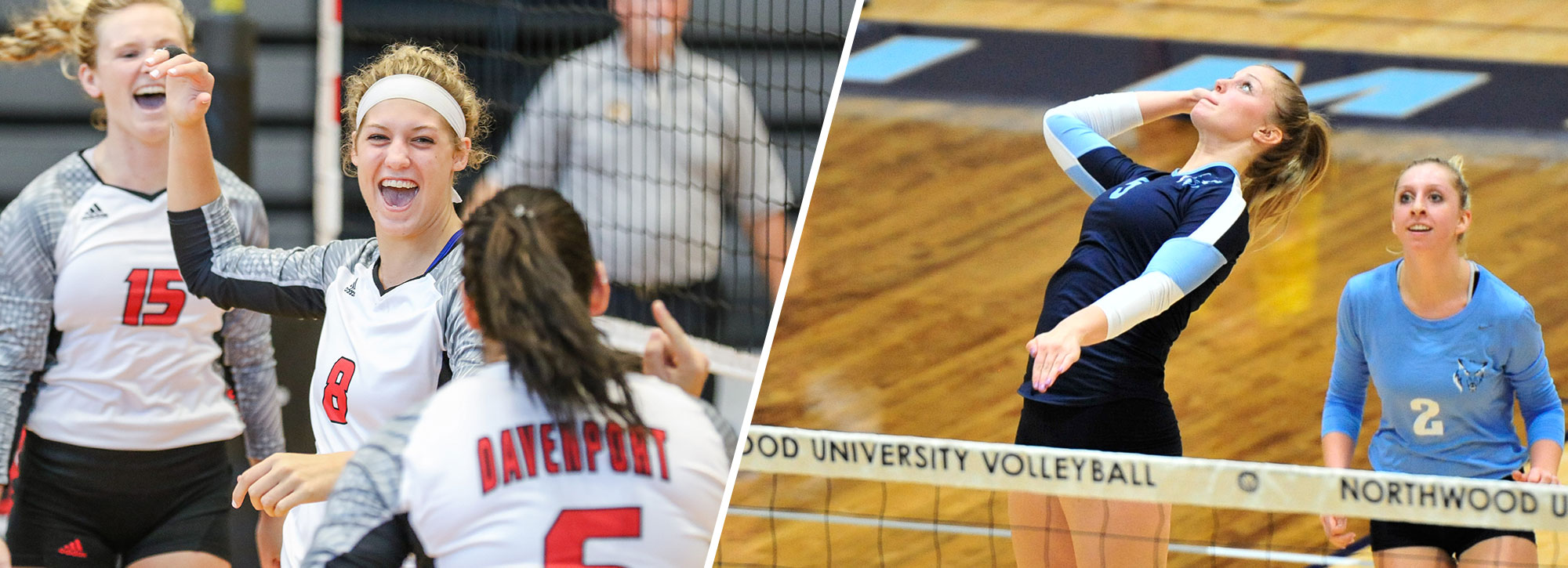 Northwood's Getty, Davenport's Marvin Capture GLIAC Volleyball Weekly Honors