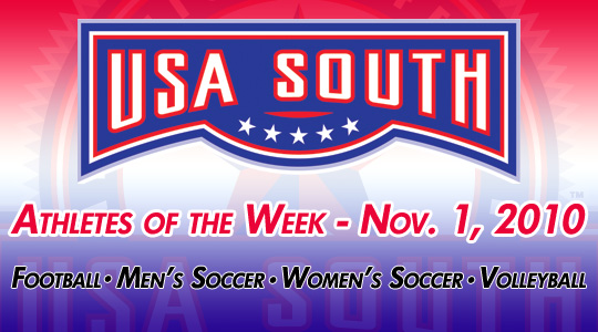 USA South Athletes of the Week - Nov. 1, 2010
