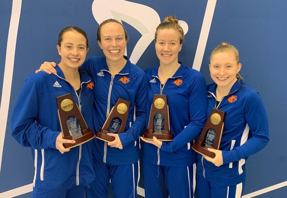 Women's 800 Free Relay; Sodemann Earn All-America Honors on NCAA Day Three