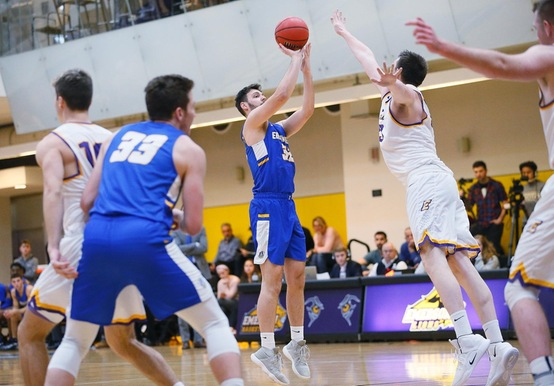 BIG SECOND HALF FUELS 83-62 MEN'S BASKETBALL WIN OVER REGIS