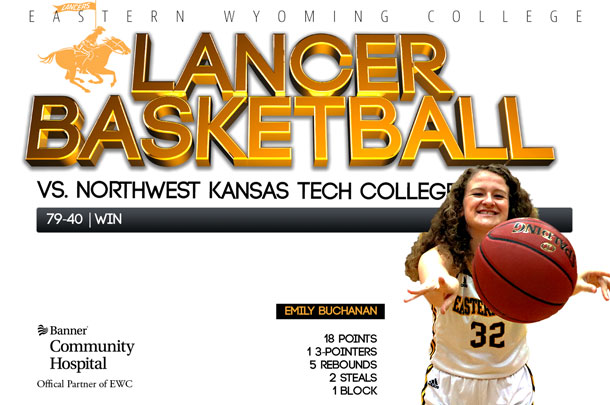 Eastern Wyoming College Lady Lancer Basketball Team vs. Northwest Kansas Technical College