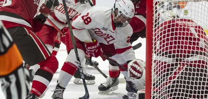 Third-period lapse leaves Cornell with tie at Brown