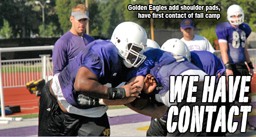 Camp Notebook: Golden Eagles will add full pads for Friday's practice