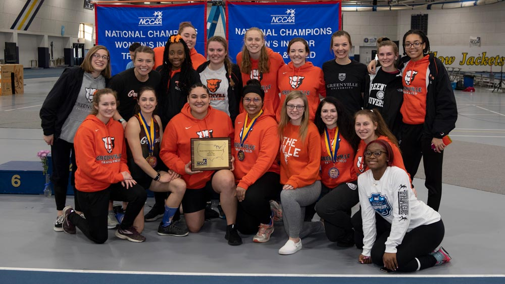 Women's track and field secures three NCCAA national titles
