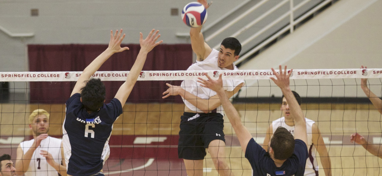 No. 1 Men's Volleyball Coasts Past Hope International In Straight Sets