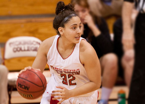 The Red Devils struggled on Tuesday night, falling at Muhlenberg<BR>