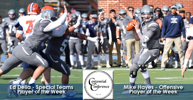 Delia & Hayes Honored as Centennial Conference Players of the Week
