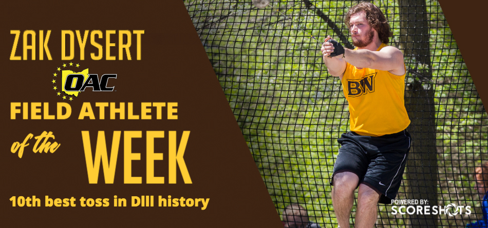 Dysert Captures Weekly OAC Men's Field Athlete Award